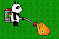 [掃除機でスペースクリーチャーを吸いまくるぱんぞうのアクションゲーム]ウルトラぱんぞう ぷにぷにバスター
