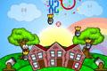 [空から降ってくる爆弾から街を守るゲーム]Rainbow Blitz