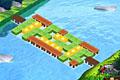 [橋のパーツパネルを移動させ橋をつなげるパズルゲーム]Wooden Path