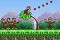 [サルを吹っ飛ばしてジャングルのフルーツをゲットするゲーム]Monkey Flight