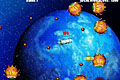 [アンテナを杭にひっかけて方向を変え敵をやっつけるアクションゲーム]地球防衛ミサイル