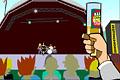 [黄色い液体入りボトルをバンドメンバーへ投げつけるゲーム]Music Festival Bottler