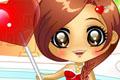 [でっかいキャンディーを持っている女の子の着せ替えゲーム]Candy Girl Dress Up