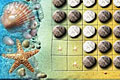 [浜辺の石で遊ぶオセロゲーム]Beach Reversi (aka Othello)