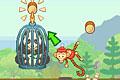 [回転サルを操作して捕らえられているパンダを助け出すアクションゲーム]Crazy Monkey Spin VT