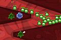 [体内へ転がり落ちてくる細菌をやっつける防衛ゲーム]Bowels Physics TD