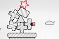 [赤い星をシマシマ台座まで落とすパズルゲーム]Redstar Fall