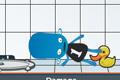 [青い宇宙人をボコボコにダメージを与えるゲーム]Flakboy