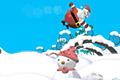 [サンタクロースを大砲で吹っ飛ばすアクションゲーム]Santa Can Fly