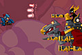 [竜に乗った戦士を操作し、敵と戦う横スクロールシューティングゲーム]SkyFyre 2