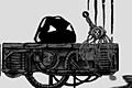 [墨を使ってロボットパーツを見つけ出すパズルアクションゲーム]Black Thing