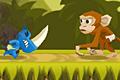 [サルと戦うサイのマリオ的アクションゲーム]Rhino Rush