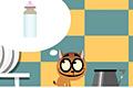 [ミルク探しの冒険に出かける子猫のポイントクリックアドベンチャーゲーム]MILK QUEST