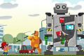 [パチンコでロボットの自爆スイッチを押す物理パズルゲーム]Big Evil Robots