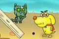 [ゾンビネコに捕まらないように冒険する犬のポイントクリックアドベンチャーゲーム]ZOMBIE CATS