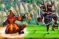 [呪文カードで騎士団の進撃を迎撃するアクションカード防衛ゲーム]ウォーロック・カード(α版)