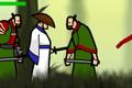[マウスドラッグで敵をやっつけるサムライのアクションゲーム]Straw Hat Samurai 2