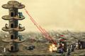 [タワーの上に砲台を設置し反乱ロボットを迎え撃つ防衛ゲーム]Robot Attack