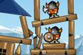 [石とかを投げて海賊をやっつけるAngryBird風の物理パズルゲーム]Siege Hero – Viking Vengeance
