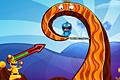 [爆弾を投げてモンスターをやっつける物理パズルゲーム]Monster Island