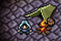 [薄暗い洞窟内をわずかな光を頼りに進むアクションゲーム]Rune Hunt