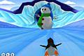 [氷上コースを疾走するペンギンのレースゲーム]Penguin Rush