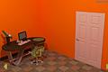 [オレンジの壁で囲まれている寝室からの脱出ゲーム]Orange Puzzle Room