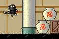[ニンジャをドラッグしてジャンプさせ敵をやっつけながらゴールを目指すパズルゲーム]Sticky Ninja Academy