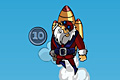 [ロケットを背負ったサンタを空高く吹っ飛ばすアクションゲーム]Rocket Santa