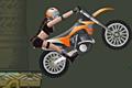[モトクロスバイクに乗って障害物を乗り越え進むアクションゲーム]Moto Tomb Racer
