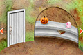 [奇妙な生物に閉じ込められてしまったハロウィン部屋からの脱出ゲーム]ランドルフの穴 – Halloween party –