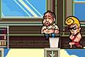 [空から襲ってくる宇宙船に捕まらないように逃げまくるアクションゲーム]Hot Tub Heist