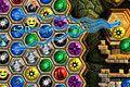 [画面右にある模様を三つ以上並べて消していく3マッチパズルゲーム]Mayan caves