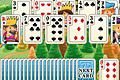 [±1のカードを出してタワー状に積まれたカードを消して行くタワーソリティアゲーム]Tower Solitaire