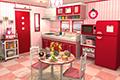 [7コのイチゴを探し出す脱出ゲーム]フルーツ・キッチン No.01 ストロベリーレッド