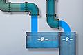 [水がこぼれないようにパーツを配置する脳トレパズルゲーム]Liquid Measure Crystal Water Pack