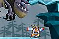 [ドラゴンから逃げまくるヴァイキングの道をつくっていくアクションゲーム]Run Viking Run
