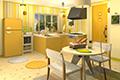[7コのレモンを探し出す脱出ゲーム]フルーツ・キッチン No.04 レモンイエロー