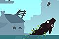 [水中の怪物を水上へおびき寄せて弓でやっつけるアクションゲーム]Hanoka(ハノカ)