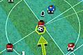 [パスをつないでサッカー審判へボールをぶつけるアクションゲーム]Kind of Soccer