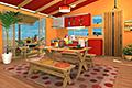 [ 7コのアップルマンゴーを探し出す脱出ゲーム]フルーツ・キッチン No.07 アップルマンゴー