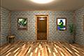 [額縁に入った絵が飾られている密室からの脱出ゲーム]額縁のある部屋からの脱出
