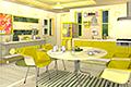 [7コのグレープフルーツを探し出す脱出ゲーム]フルーツ・キッチン No.09 グレープフルーツイエロー